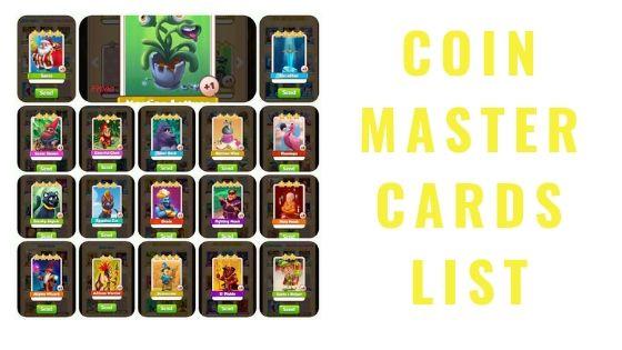 Coin Master Card Chart