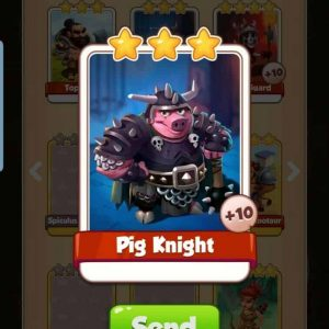 Pig Knight coin master card
