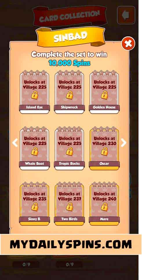 Coin Master Sinbad card set
