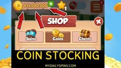 Coin Master coin stocking