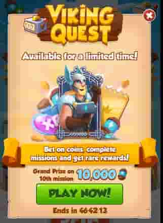 Coin master viking Quest event