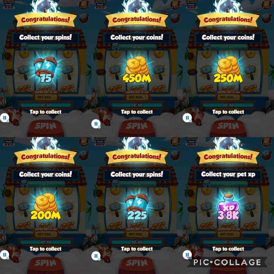 coin Master event rewards