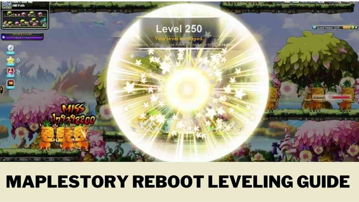 New Maplestory Reboot Leveling guide 2020