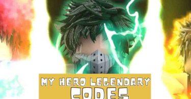Roblox My Hero Legendary codes