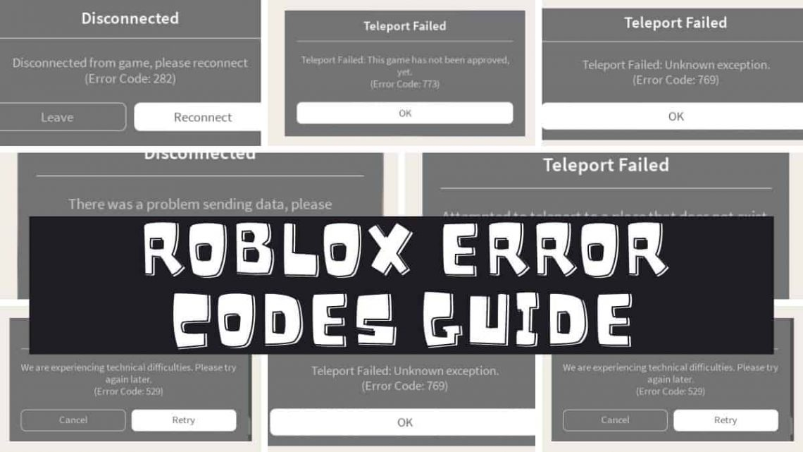 Roblox Code 523 29 Roblox Error Codes Guide And How To Solve Each One