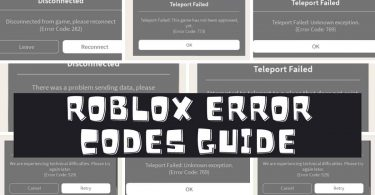 Roblox error codes