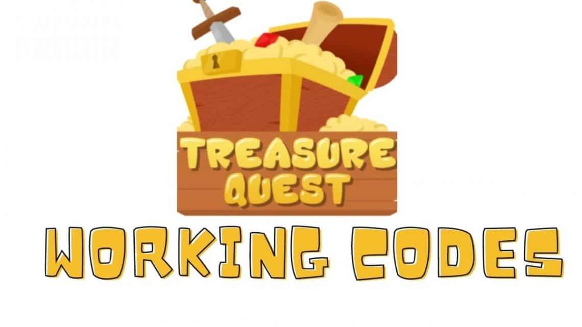 roblox treasure quest codes