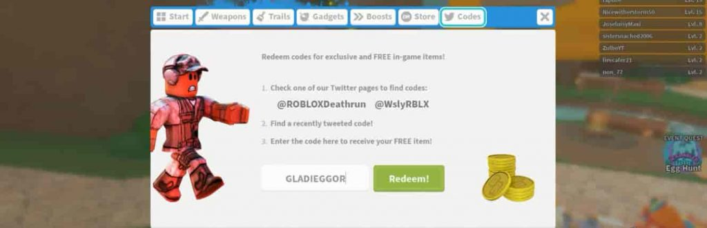 How to redeem Roblox Deathrun codes 2020