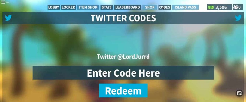 How to redeem island royale codes