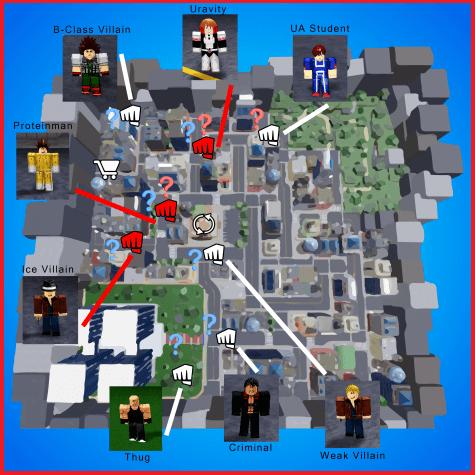 My Hero Mania Map