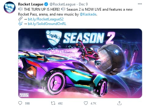 Rocket League codes season 2 announcement
