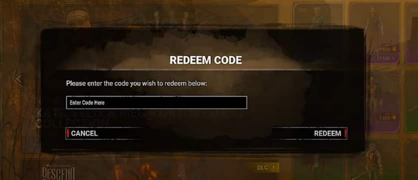 redeem dead by daylight codes