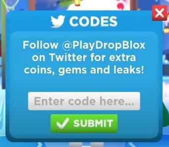 Dropblox codes