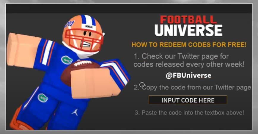 Football universe codes