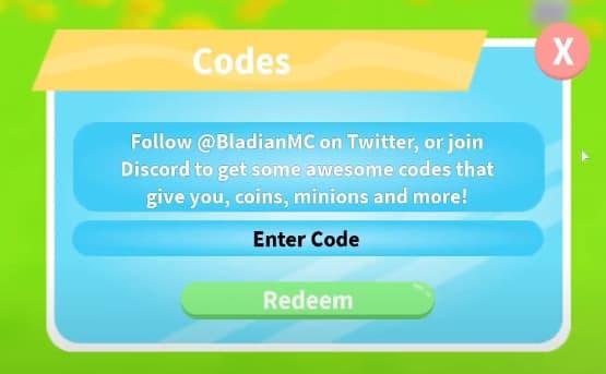 Minion simulator codes