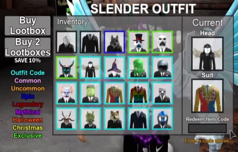 Stop it slender codes
