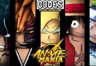 Roblox Anime Mania codes list