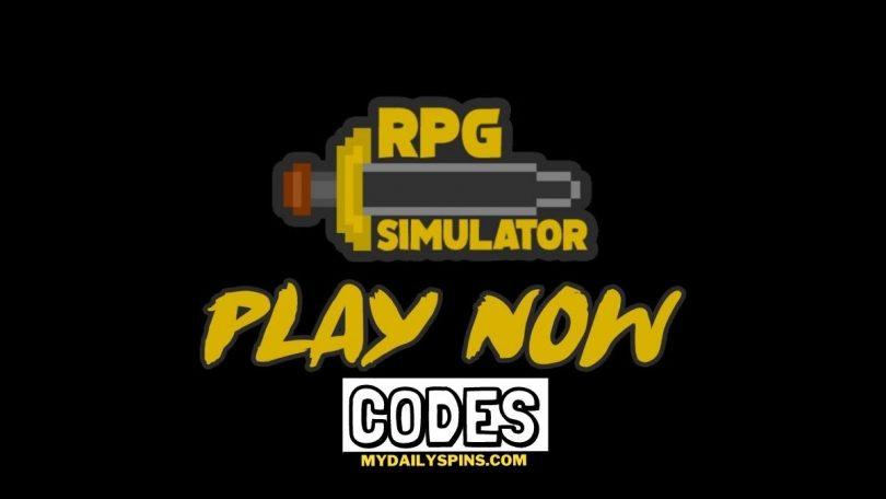 Roblox RPG simulator Codes list