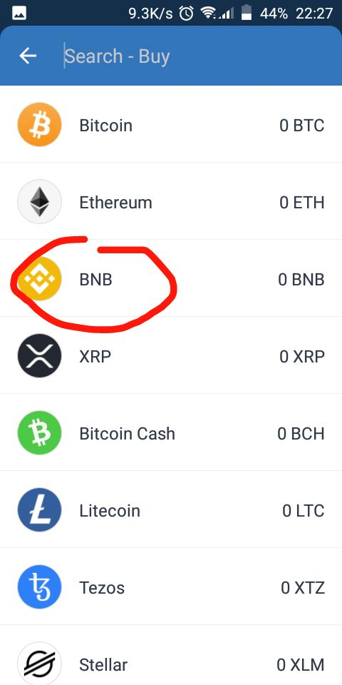 How To Buy Safemoon: Select to buy bnb on trust wallet