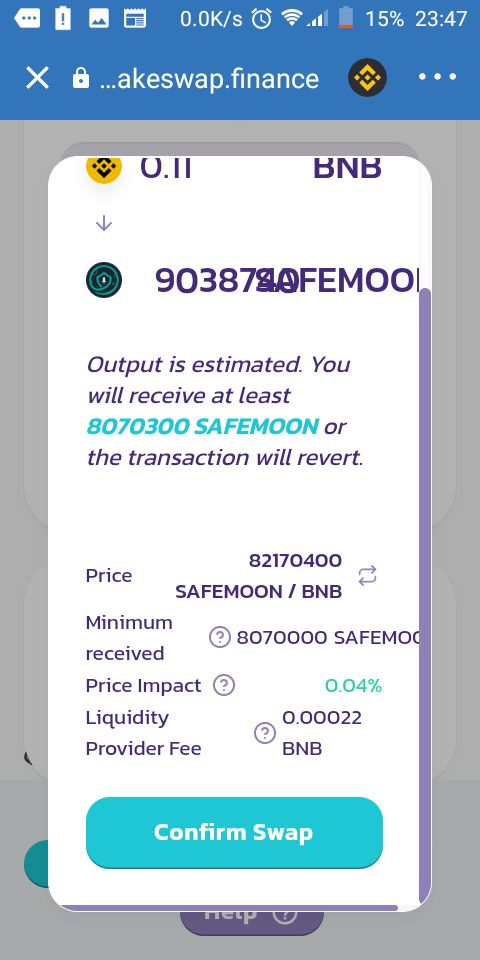 How To Buy Safemoon confirm swap