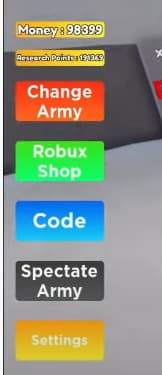 Noob Army Tycoon codes