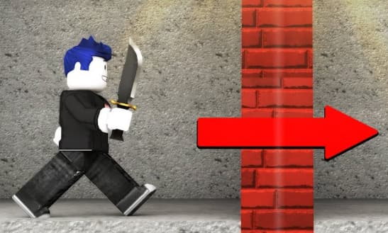 HOW TO GO THROUGH WALLS INSTANTLY IN ROBLOX step 2
