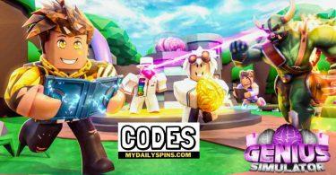 Roblox Genius Simulator Codes list