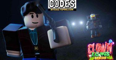 Roblox The Clown Killings Reborn Codes list