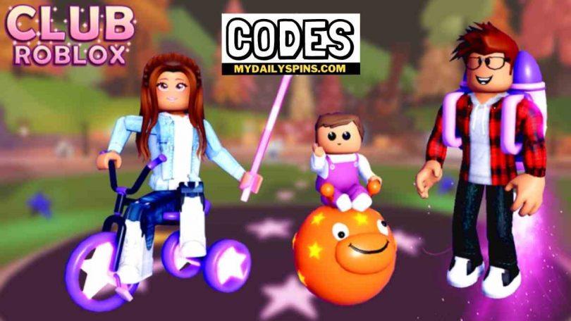 Club Roblox Codes list