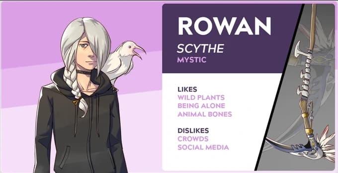 boyfriend dungeon characters Rowan