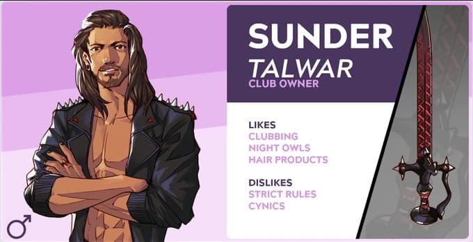 boyfriend dungeon characters Sunder